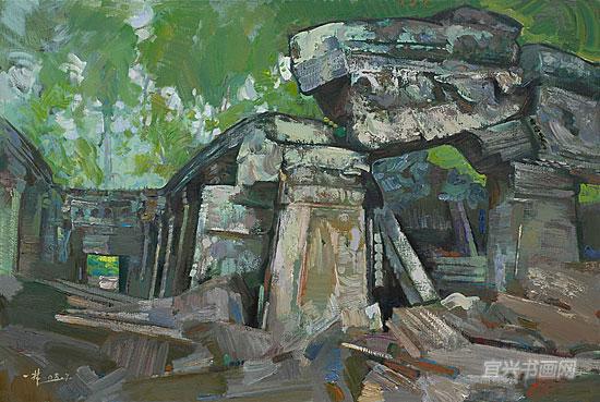逸梵画室 > 吴哥印象---中国油画家赴柬埔寨吴哥写生作品展   丁一林